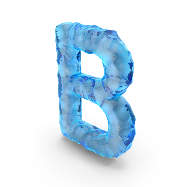 Ice Alphabet Letter B PNG & PSD Images