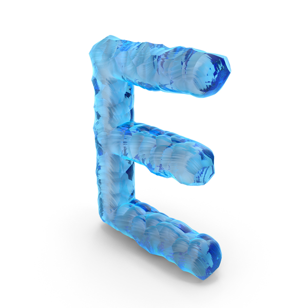 Language: Ice Alphabet Letter E PNG & PSD Images