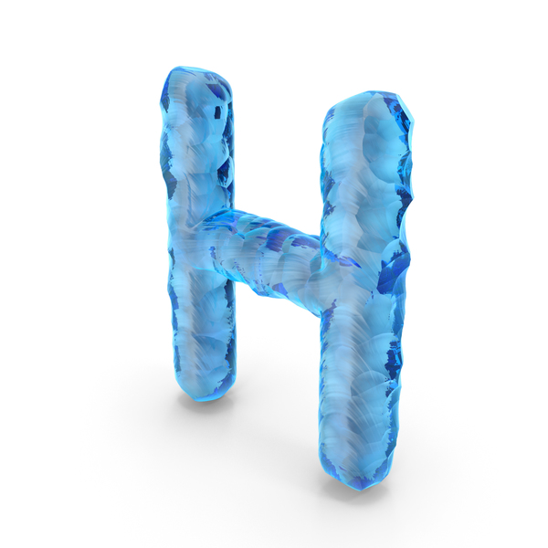 Ice Alphabet Letter H PNG & PSD Images