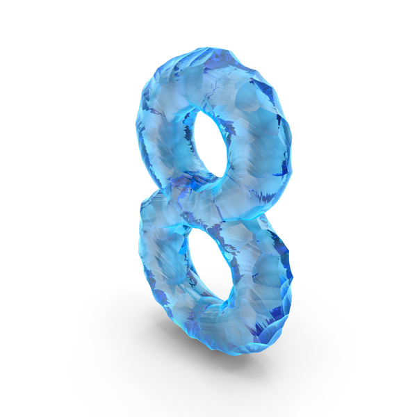 Ice Alphabet Number 8 PNG & PSD Images