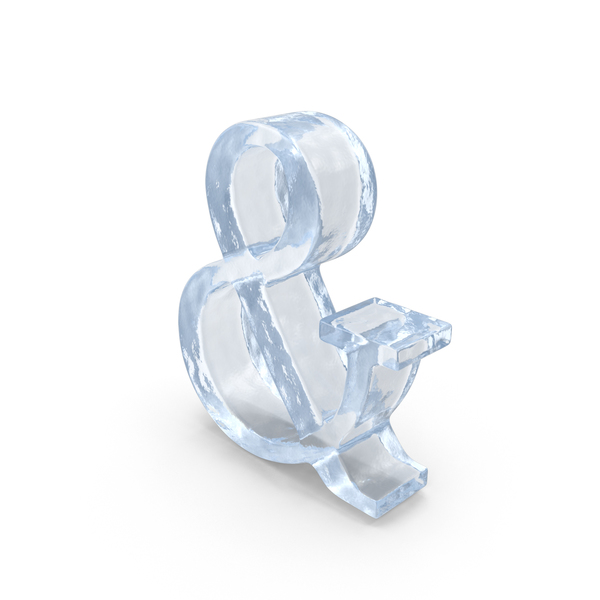 Language: Ice Ampersand Symbol PNG & PSD Images