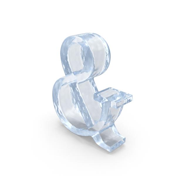 Ice Ampersand Symbol Object