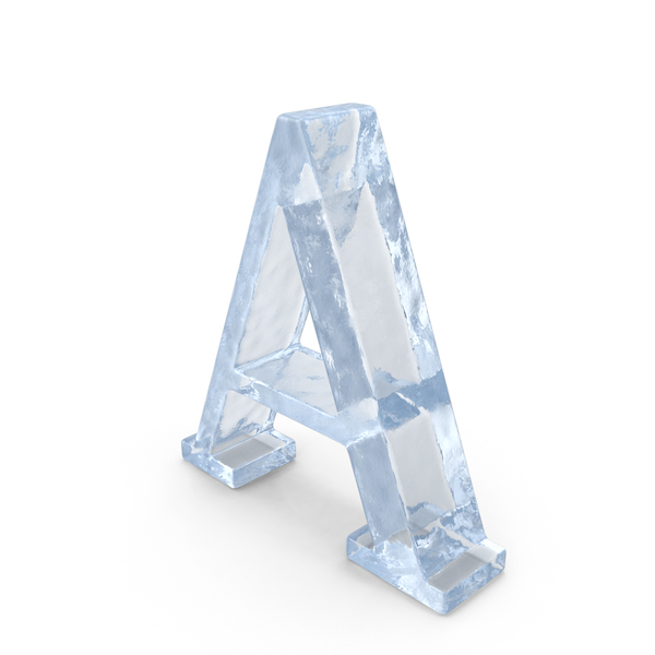 Ice Capital Letter A PNG & PSD Images