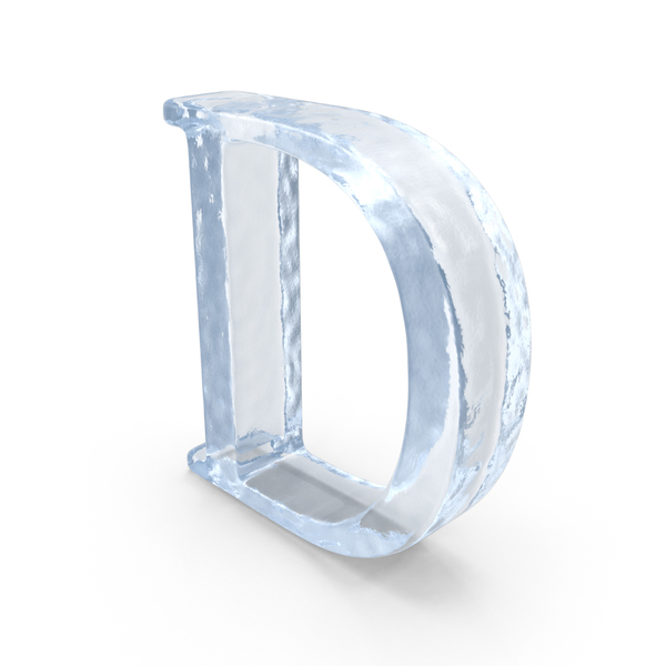 Ice Capital Letter D PNG & PSD Images