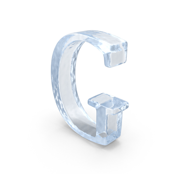 Ice Capital Letter G PNG & PSD Images