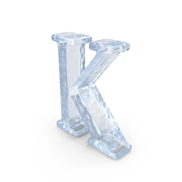 Ice Capital Letter K PNG & PSD Images