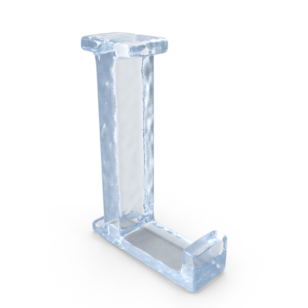 Ice Capital Letter L PNG & PSD Images