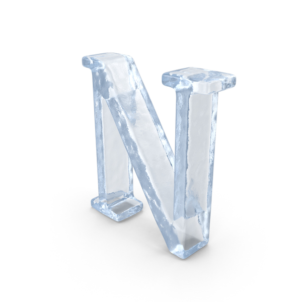 Ice Capital Letter N PNG & PSD Images