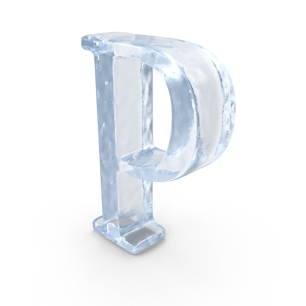 Ice Capital Letter P PNG & PSD Images