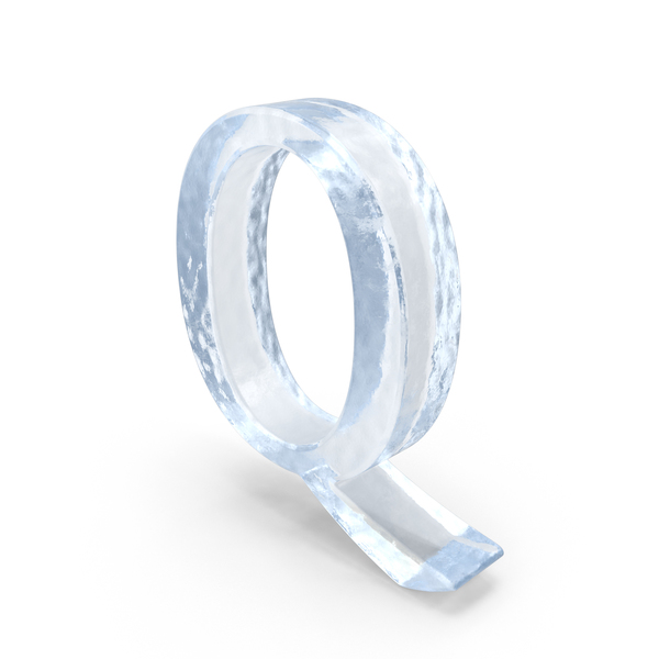 Ice Capital Letter Q PNG & PSD Images