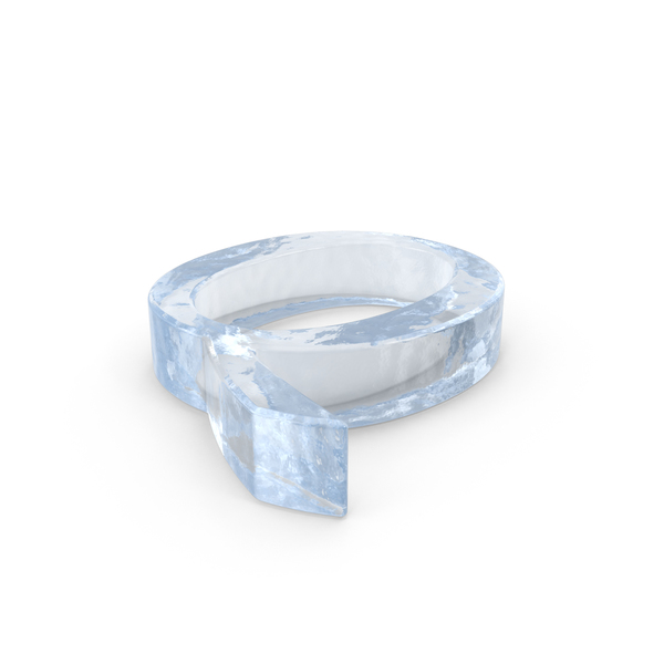 Ice Capital Letter Q Object