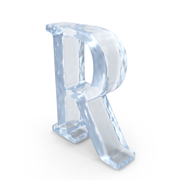 Language: Ice Capital Letter R PNG & PSD Images