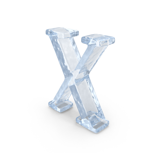 Language: Ice Capital Letter X PNG & PSD Images
