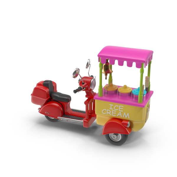 Cart: Ice Cream Motorcycle PNG & PSD Images
