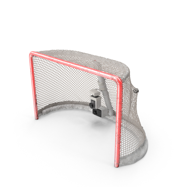 Ice Hockey Goal With Puck Stretching Net Bottom PNG & PSD Images