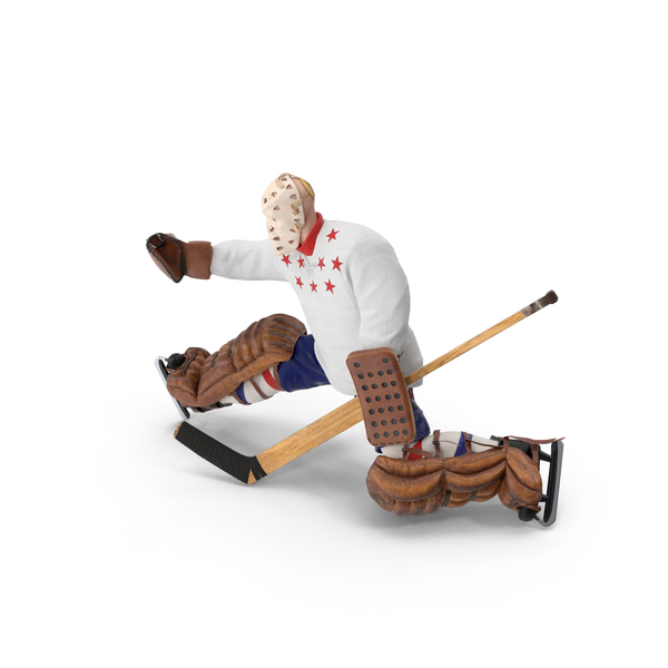 Ice Hockey Goalie Catching Pose PNG & PSD Images