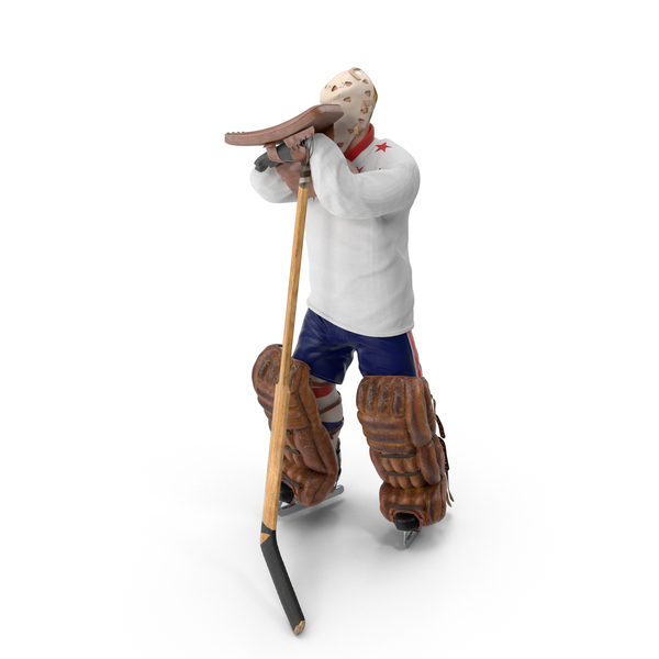 Ice Hockey Goalie Standing Pose PNG & PSD Images