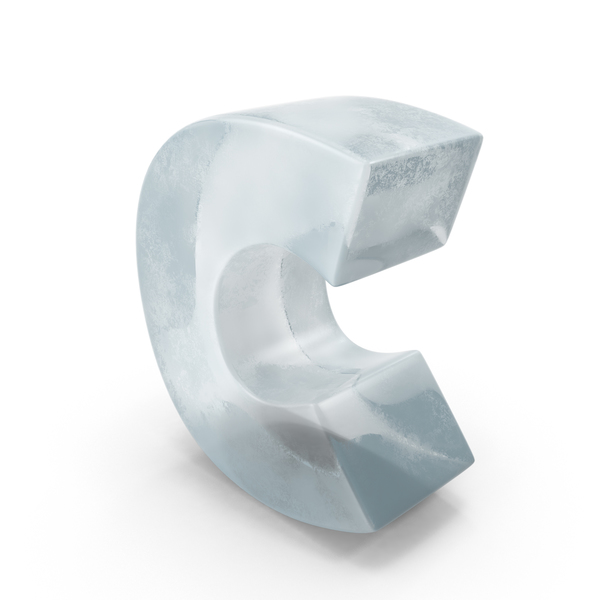 Ice Letter C PNG & PSD Images