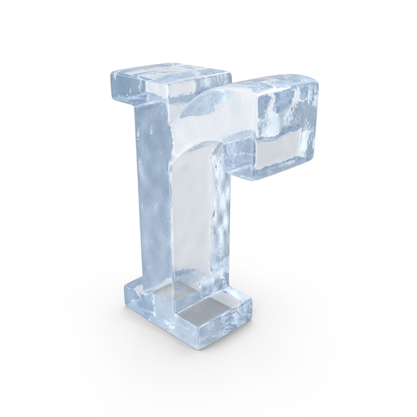 Roman Alphabet: Ice Letter Lowercase R PNG & PSD Images