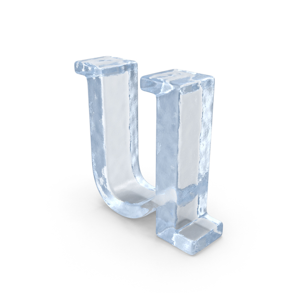 Ice Letter Lowercase U PNG & PSD Images