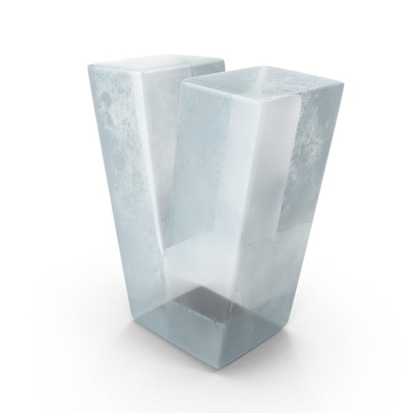 Ice Letter V PNG & PSD Images