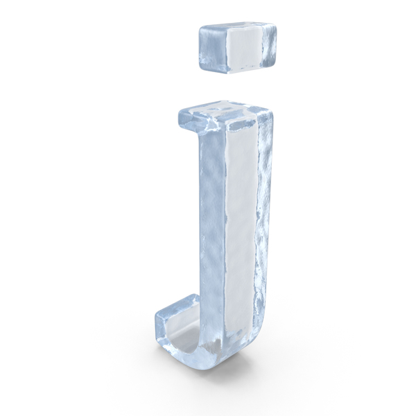 Ice Small Letter J PNG & PSD Images