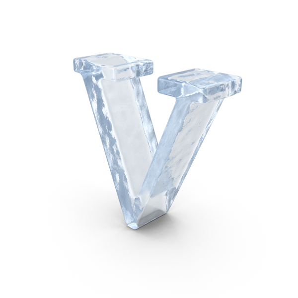 Ice Small Letter V PNG & PSD Images