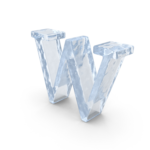 Ice Small Letter W PNG & PSD Images