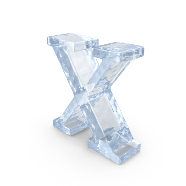 Ice Small Letter x PNG & PSD Images
