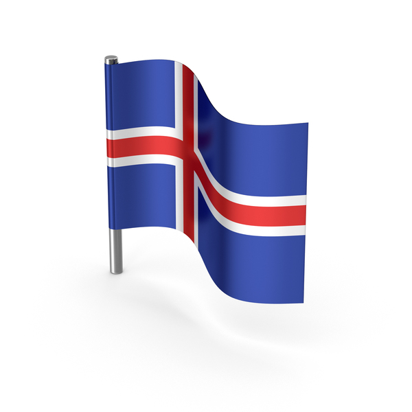 Iceland Cartoon Flag PNG & PSD Images