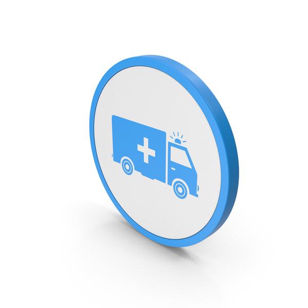 Caduceus: Icon Ambulance Blue PNG & PSD Images