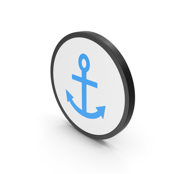 Industrial Equipment: Icon Anchor Blue PNG & PSD Images