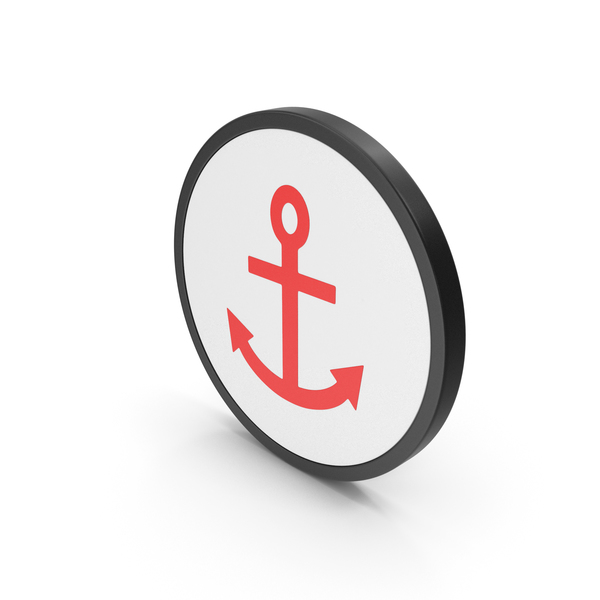 Industrial Equipment: Icon Anchor Red PNG & PSD Images