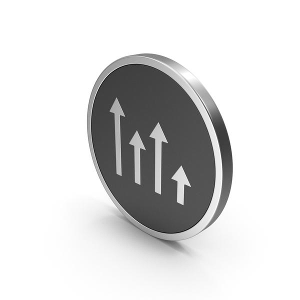 Symbols: Icon Arrows Graph Silver PNG & PSD Images