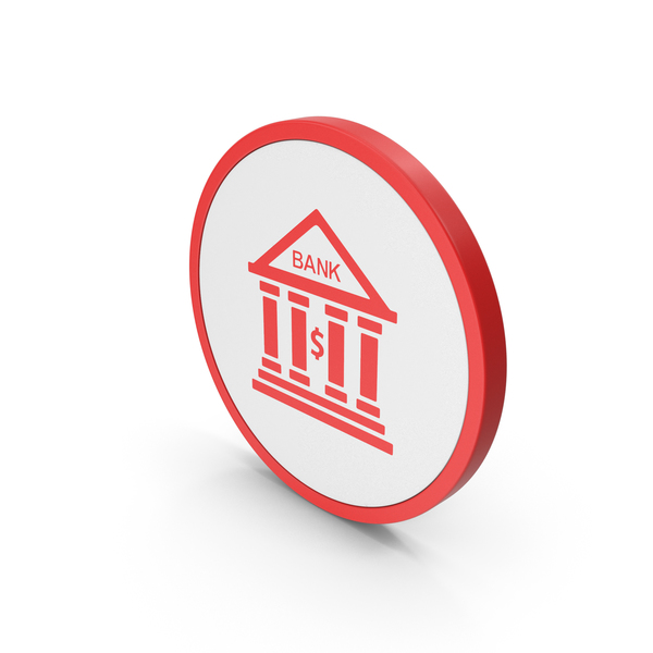 Computer: Icon Bank Red PNG & PSD Images