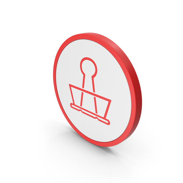 Clips: Icon Binder Clip Red PNG & PSD Images