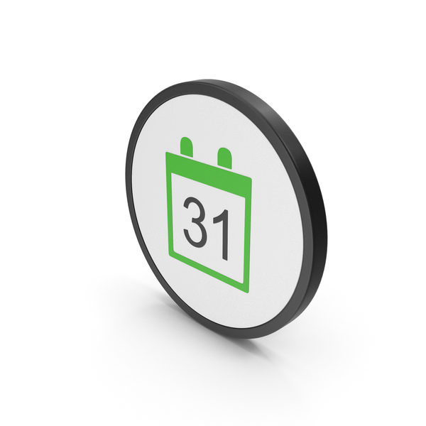 Icon Calendar Green PNG & PSD Images