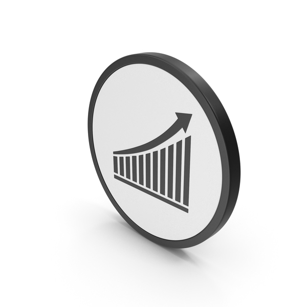 Graph: Icon Chart With Arrow PNG & PSD Images
