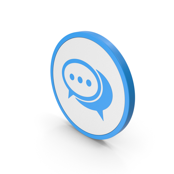 Computer: Icon Chatting Blue PNG & PSD Images