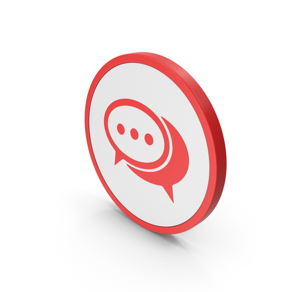 Computer: Icon Chatting Red PNG & PSD Images