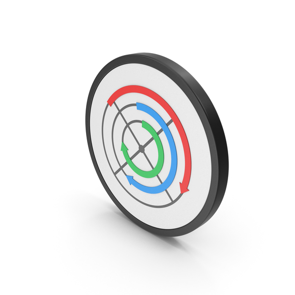Pie: Icon Circular Arrows Chart Colored PNG & PSD Images