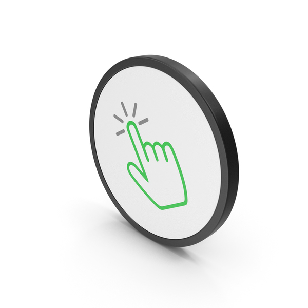 Cursor: Icon Click Green PNG & PSD Images