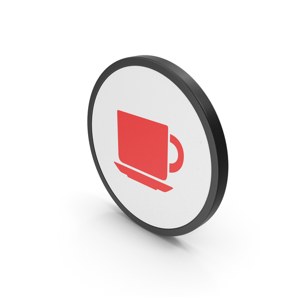Sign: Icon Coffee Cup Red PNG & PSD Images
