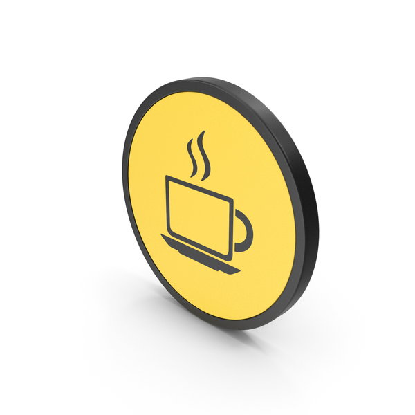 Zarf: Icon Coffee Cup Yellow PNG & PSD Images