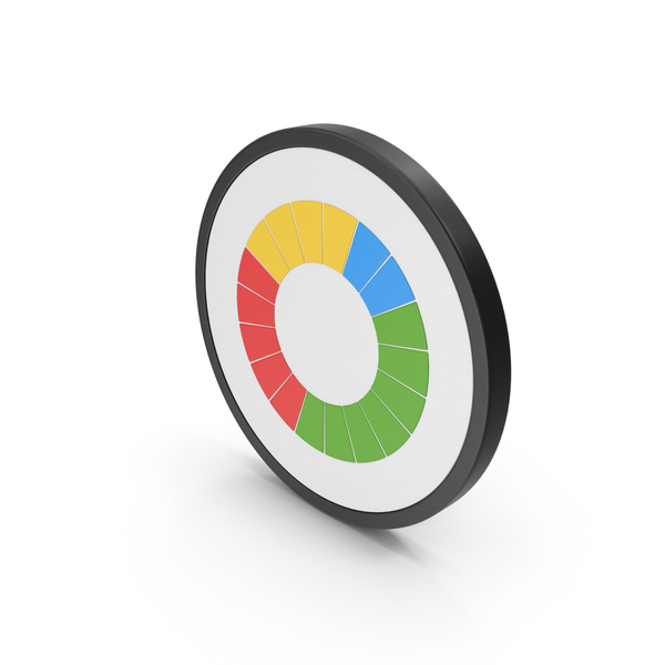 Icon Colored Pie Chart PNG & PSD Images