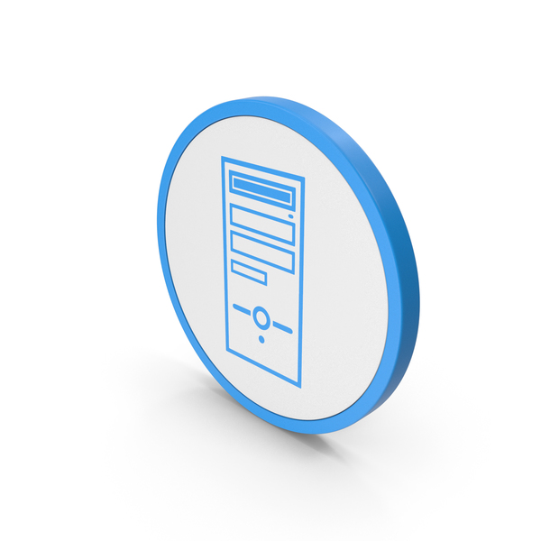 Icon Computer Case Blue PNG & PSD Images