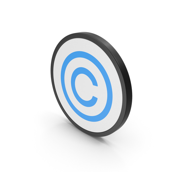 Icon Copyright Blue PNG & PSD Images
