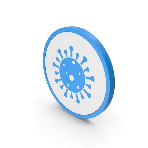 Logo: Icon Coronavirus Blue PNG & PSD Images