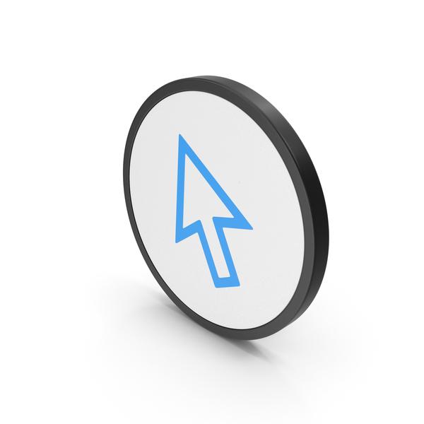 Icon Cursor Arrow Blue PNG & PSD Images