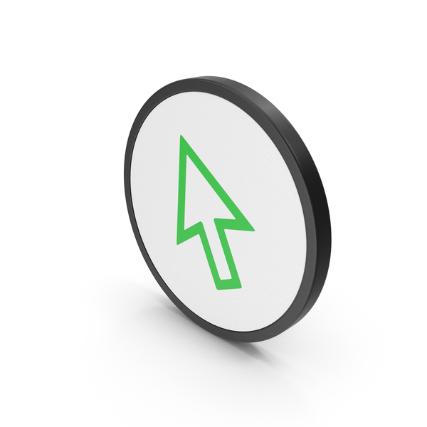 Industrial Equipment: Icon Cursor Arrow Green PNG & PSD Images